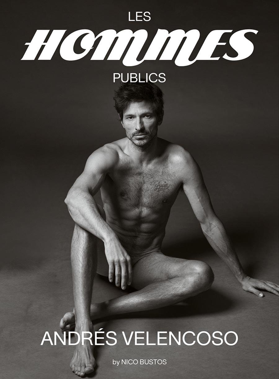 Les Hommes Publics - issue 2 - cover Andrés Velencoso